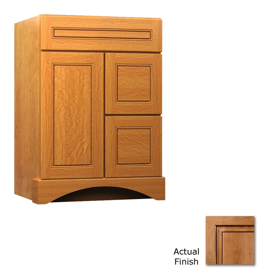 KraftMaid Summerfield Provence Ginger with Sable Glaze Casual Bathroom Vanity (Common: 24-in x 21-in; Actual: 24-in x 21-in)