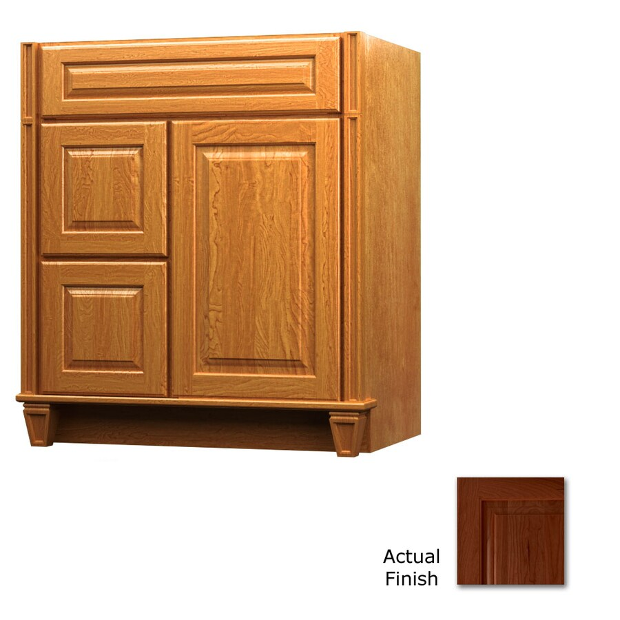 KraftMaid Key Biscayne Montclair Autumn Blush Traditional Bathroom Vanity (Common: 30-in x 18-in; Actual: 30-in x 18-in)
