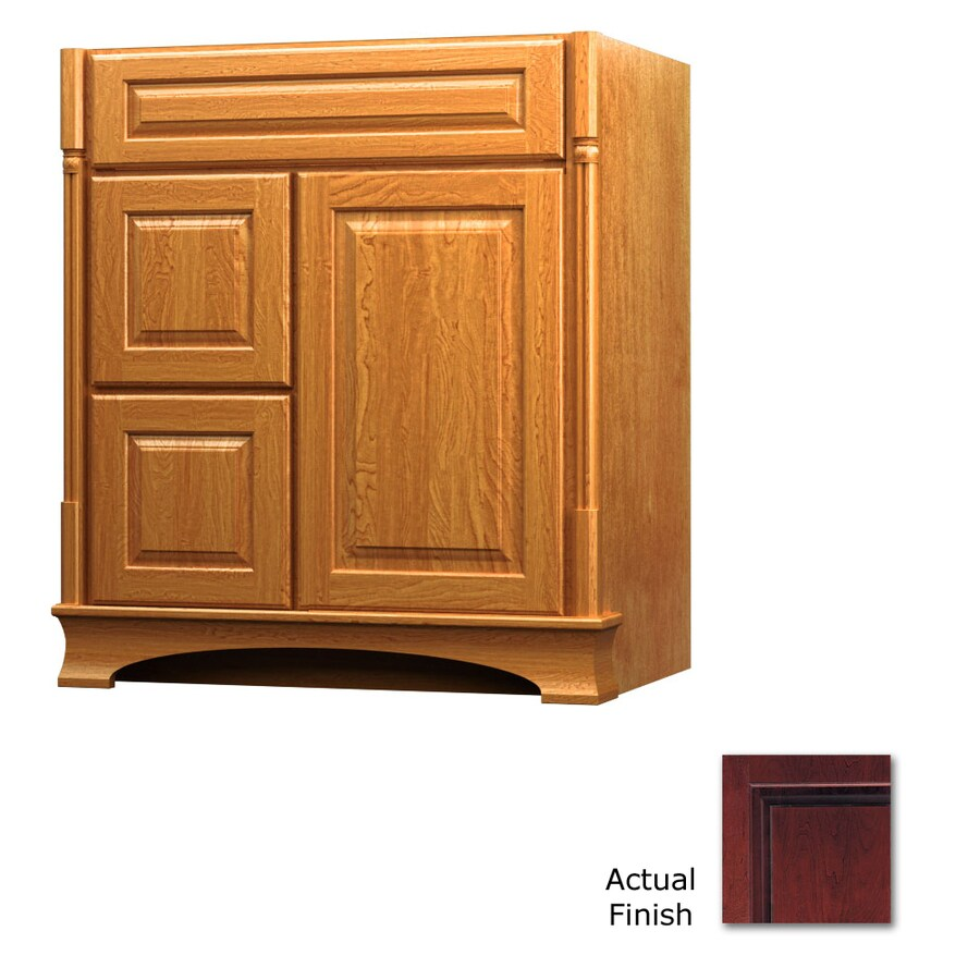 KraftMaid Chambord Montclair Cabernet Traditional Bathroom Vanity (Common: 30-in x 18-in; Actual: 30-in x 18-in)