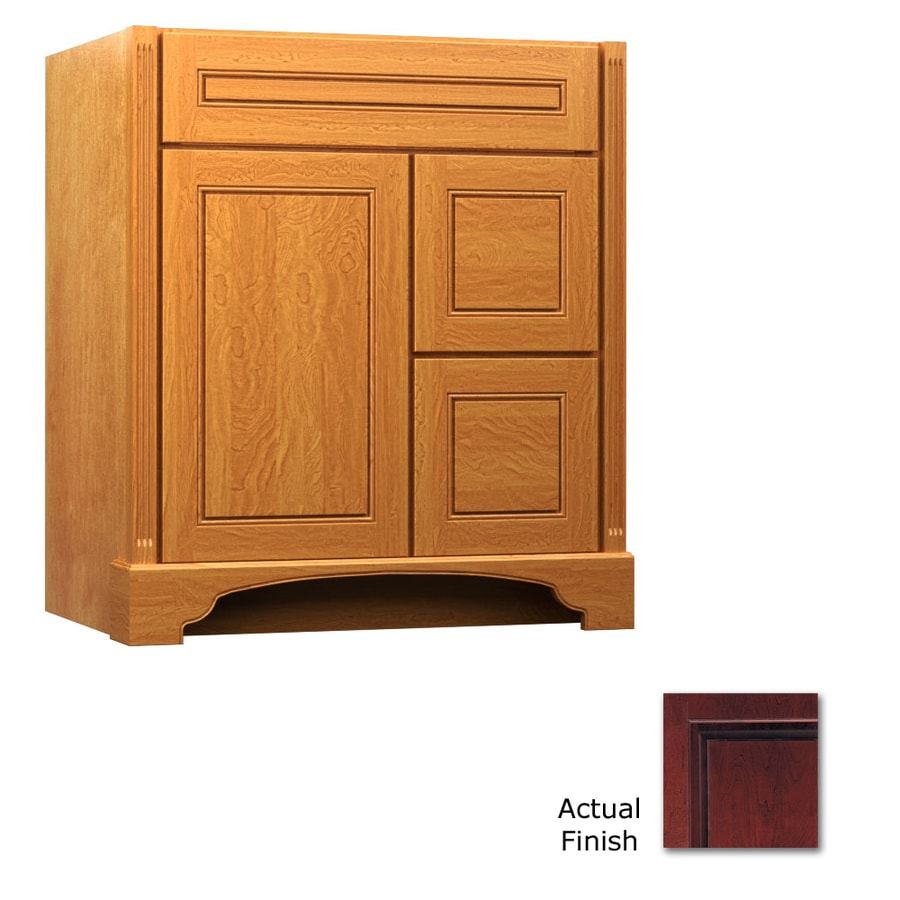 KraftMaid Savoy Provence Cabernet Traditional Bathroom Vanity (Common: 30-in x 18-in; Actual: 30-in x 18-in)