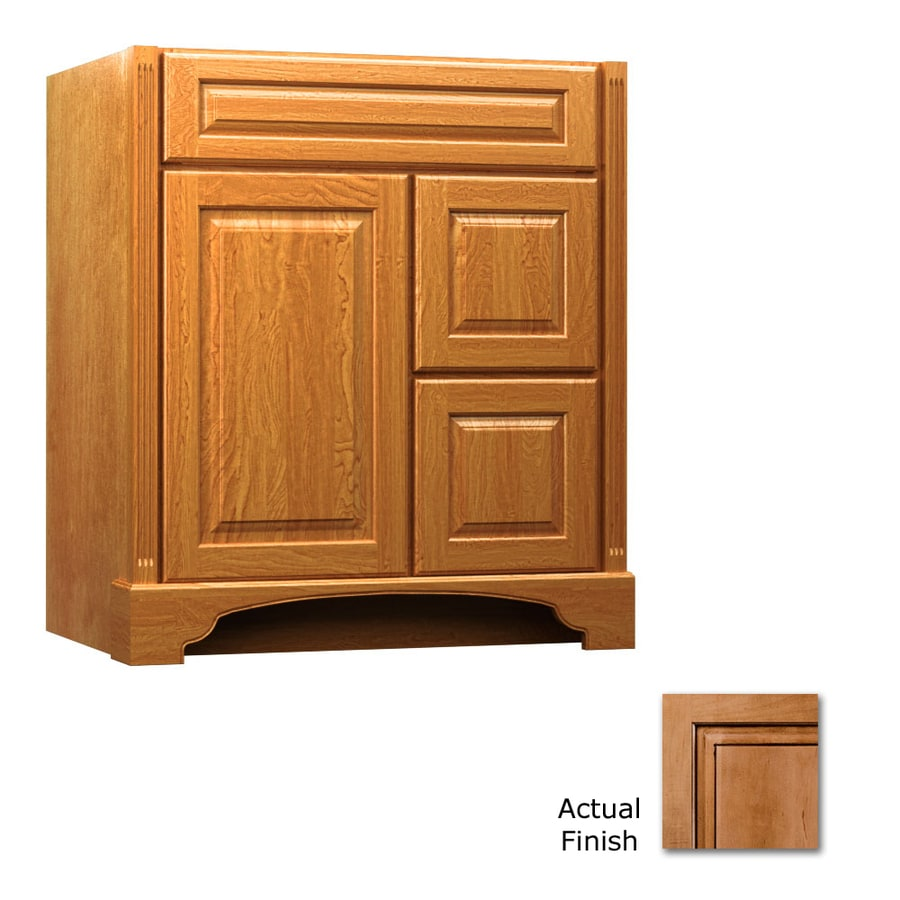 KraftMaid Savoy Montclair Ginger with Sable Glaze Traditional Bathroom Vanity (Common: 30-in x 18-in; Actual: 30-in x 18-in)