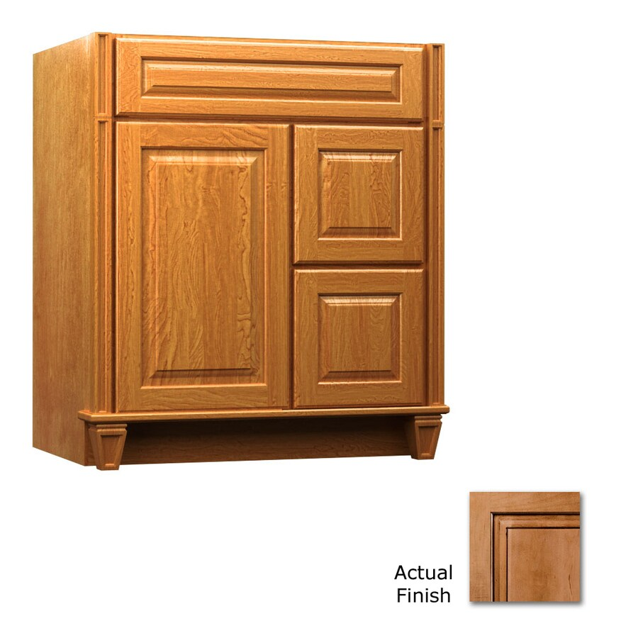 KraftMaid Key Biscayne Montclair Ginger with Sable Glaze Traditional Bathroom Vanity (Common: 30-in x 18-in; Actual: 30-in x 18-in)