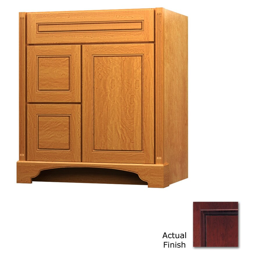 KraftMaid Savoy Provence Cabernet Traditional Bathroom Vanity (Common: 30-in x 21-in; Actual: 30-in x 21-in)