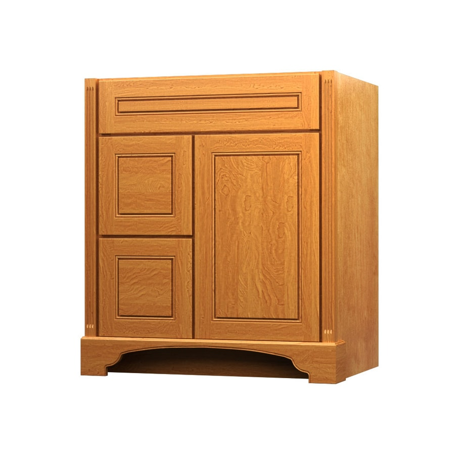 KraftMaid Savoy Provence Praline Traditional Bathroom Vanity (Common: 30-in x 21-in; Actual: 30-in x 21-in)
