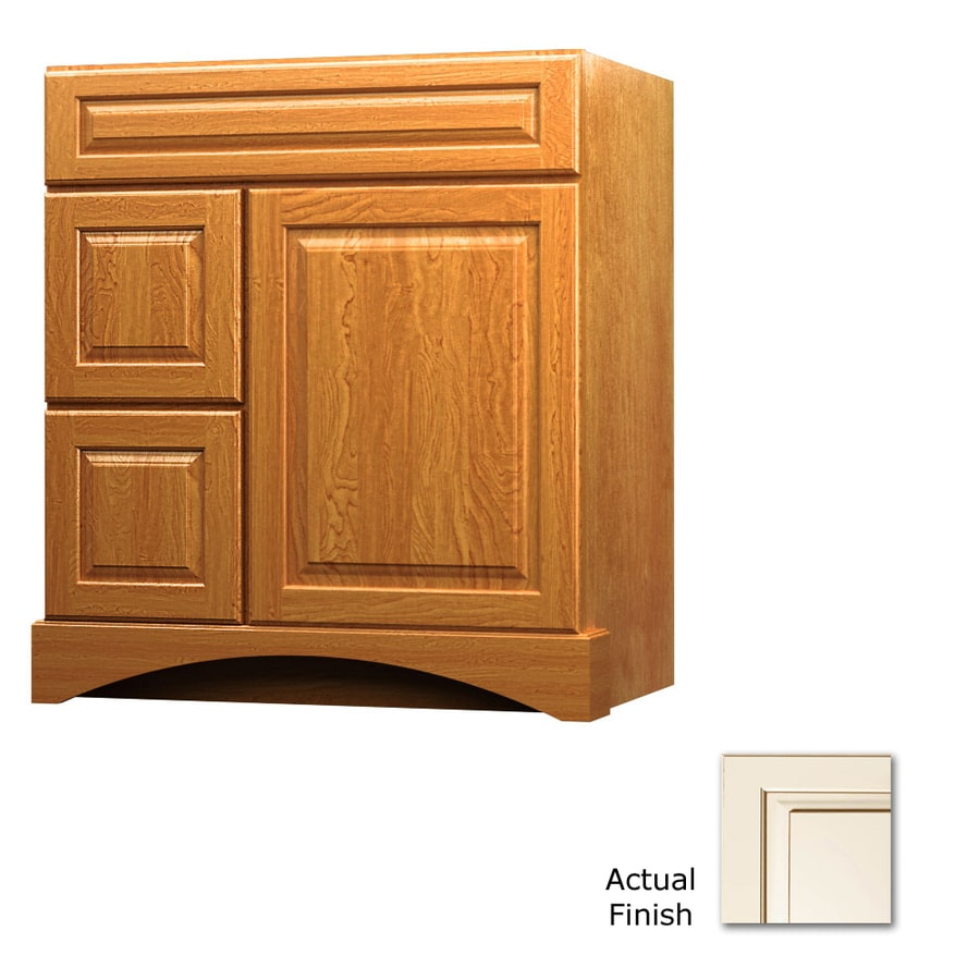 KraftMaid Summerfield Montclair Canvas with Cocoa Glaze Casual Bathroom Vanity (Common: 30-in x 21-in; Actual: 30-in x 21-in)