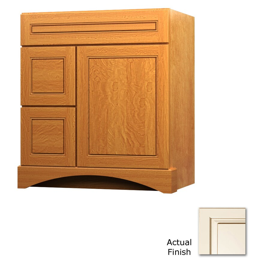 KraftMaid Summerfield Provence Canvas with Cocoa Glaze Casual Bathroom Vanity (Common: 30-in x 21-in; Actual: 30-in x 21-in)