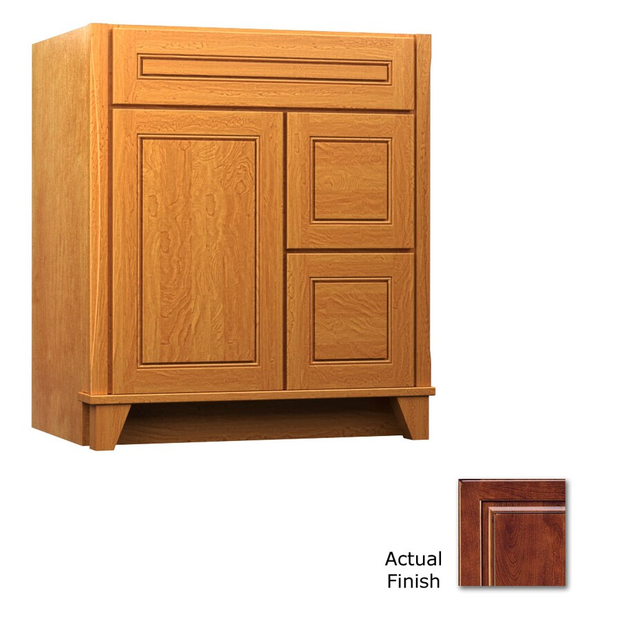 KraftMaid Tribecca Provence Antique Chocolate with Mocha Glaze Contemporary Bathroom Vanity (Common: 30-in x 21-in; Actual: 30-in x 21-in)