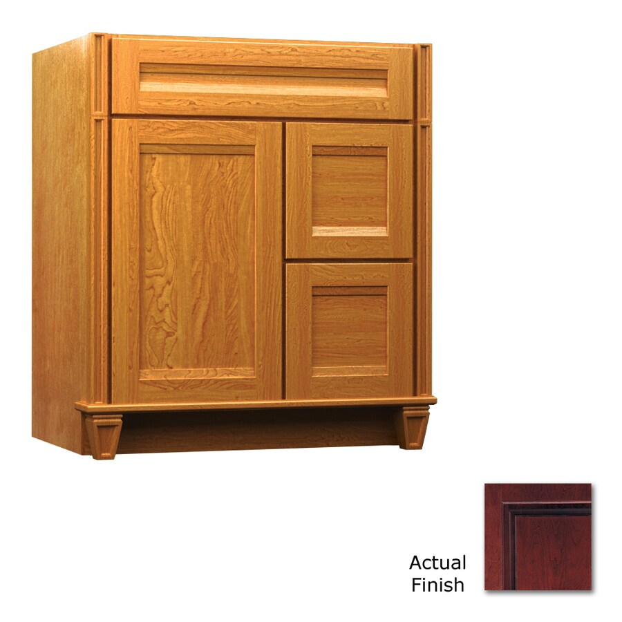 KraftMaid Key Biscayne Sonata Cabernet Traditional Bathroom Vanity (Common: 30-in x 21-in; Actual: 30-in x 21-in)