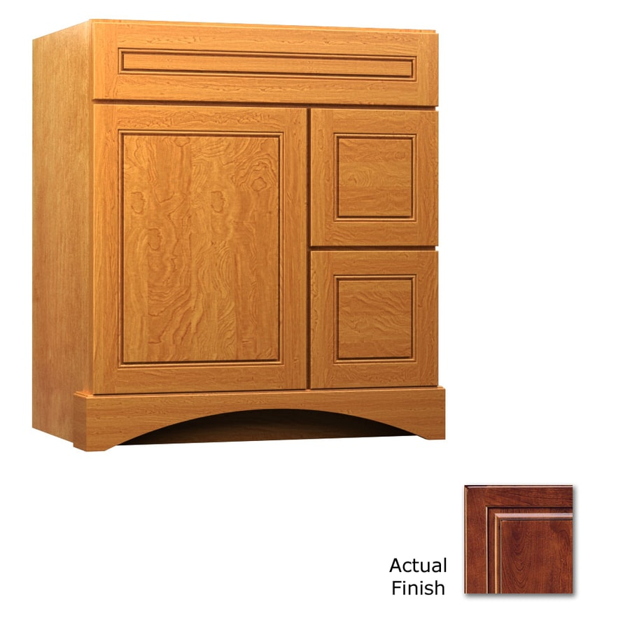 KraftMaid Summerfield Provence Antique Chocolate with Mocha Glaze Casual Bathroom Vanity (Common: 30-in x 21-in; Actual: 30-in x 21-in)