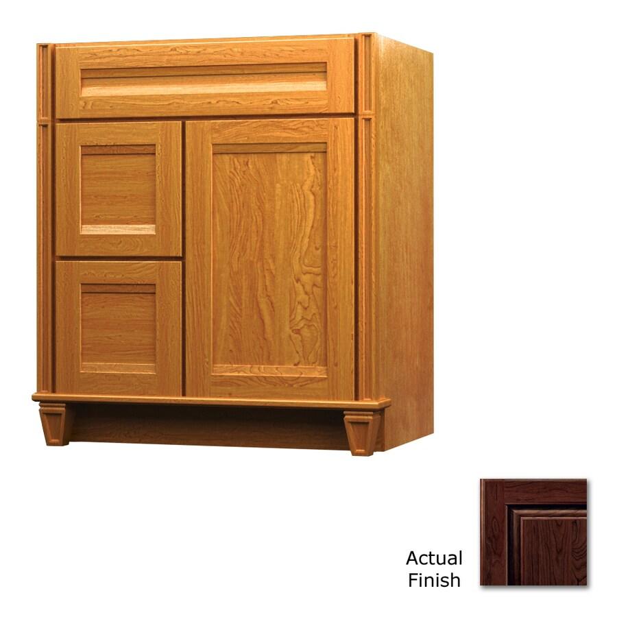 KraftMaid Key Biscayne Sonata Kaffe Traditional Bathroom Vanity (Common: 36-in x 18-in; Actual: 36-in x 18-in)