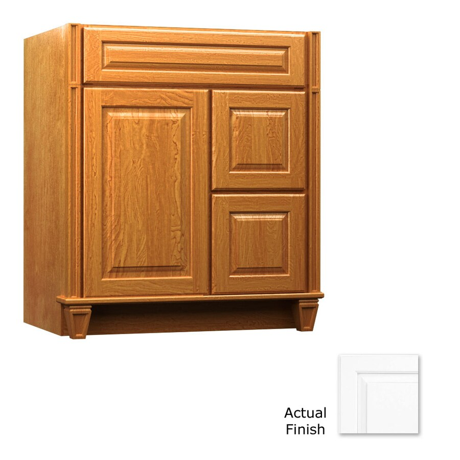 KraftMaid Key Biscayne Montclair Dove White Traditional Bathroom Vanity (Common: 36-in x 18-in; Actual: 36-in x 18-in)