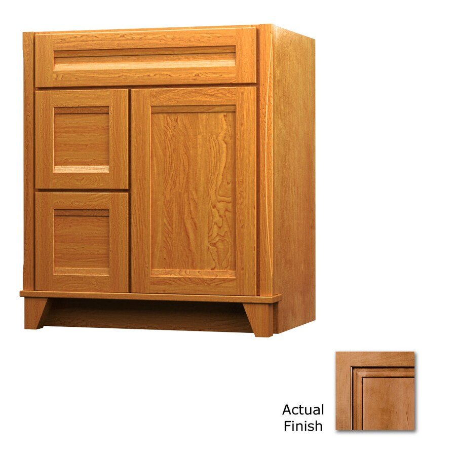 KraftMaid Tribecca Sonata Ginger with Sable Glaze Contemporary Bathroom Vanity (Common: 36-in x 21-in; Actual: 36-in x 21-in)