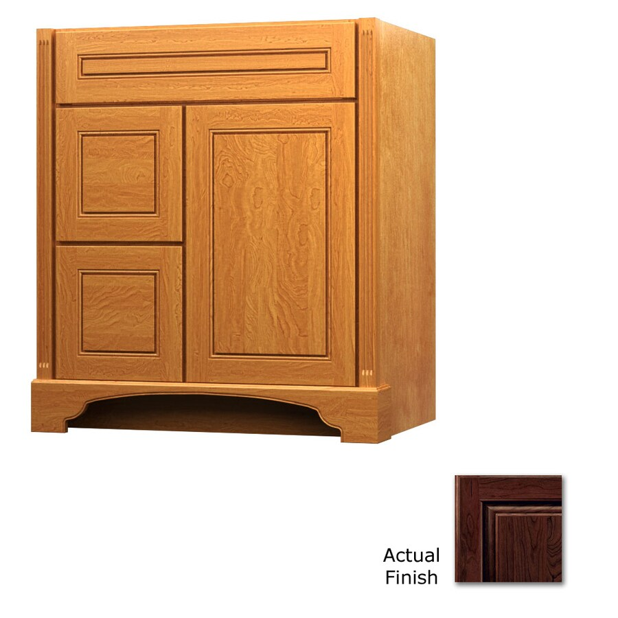KraftMaid Savoy Provence Kaffe Traditional Bathroom Vanity (Common: 36-in x 21-in; Actual: 36-in x 21-in)