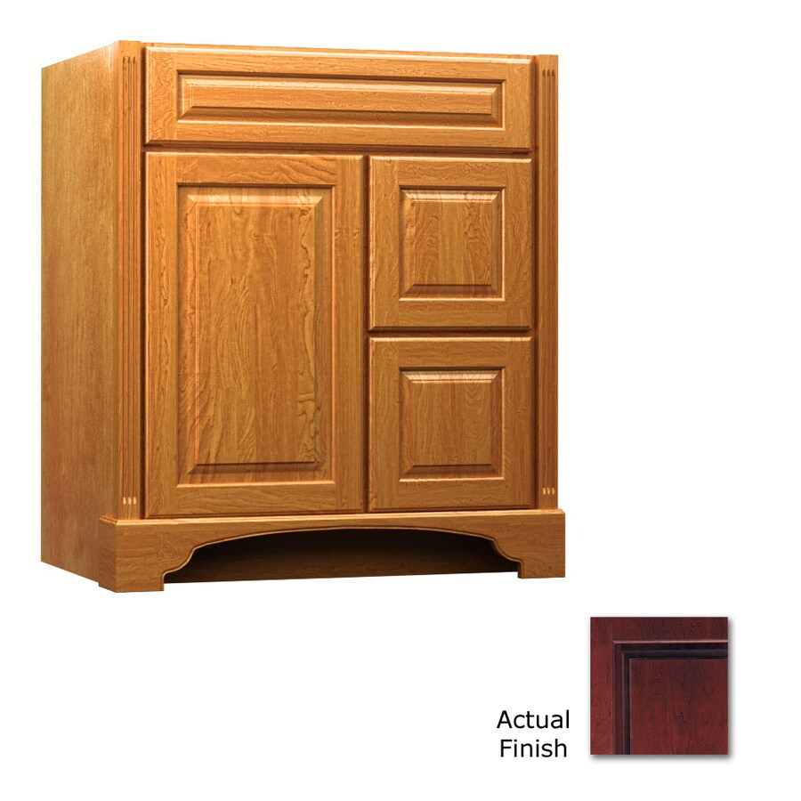 KraftMaid Savoy Montclair Cabernet Traditional Bathroom Vanity (Common: 36-in x 21-in; Actual: 36-in x 21-in)