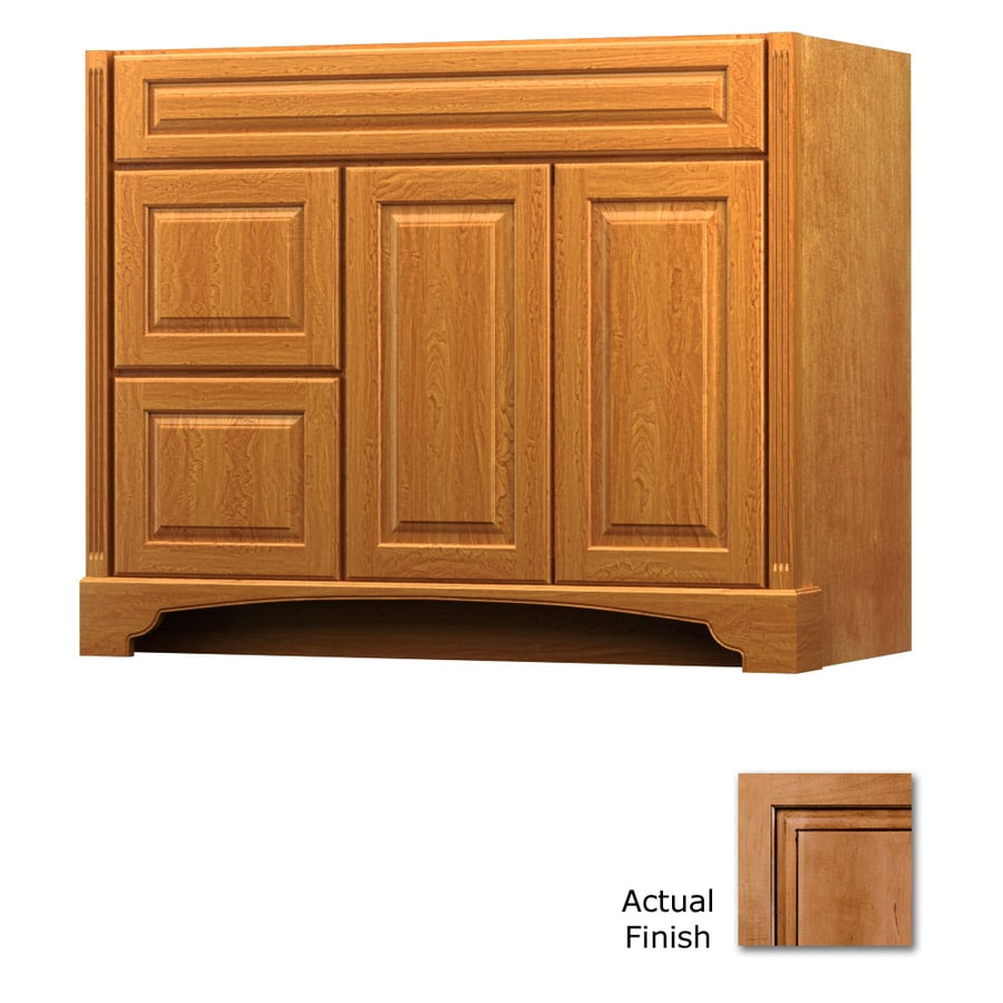 KraftMaid Savoy Montclair Ginger with Sable Glaze Traditional Bathroom Vanity (Common: 42-in x 18-in; Actual: 42-in x 18-in)
