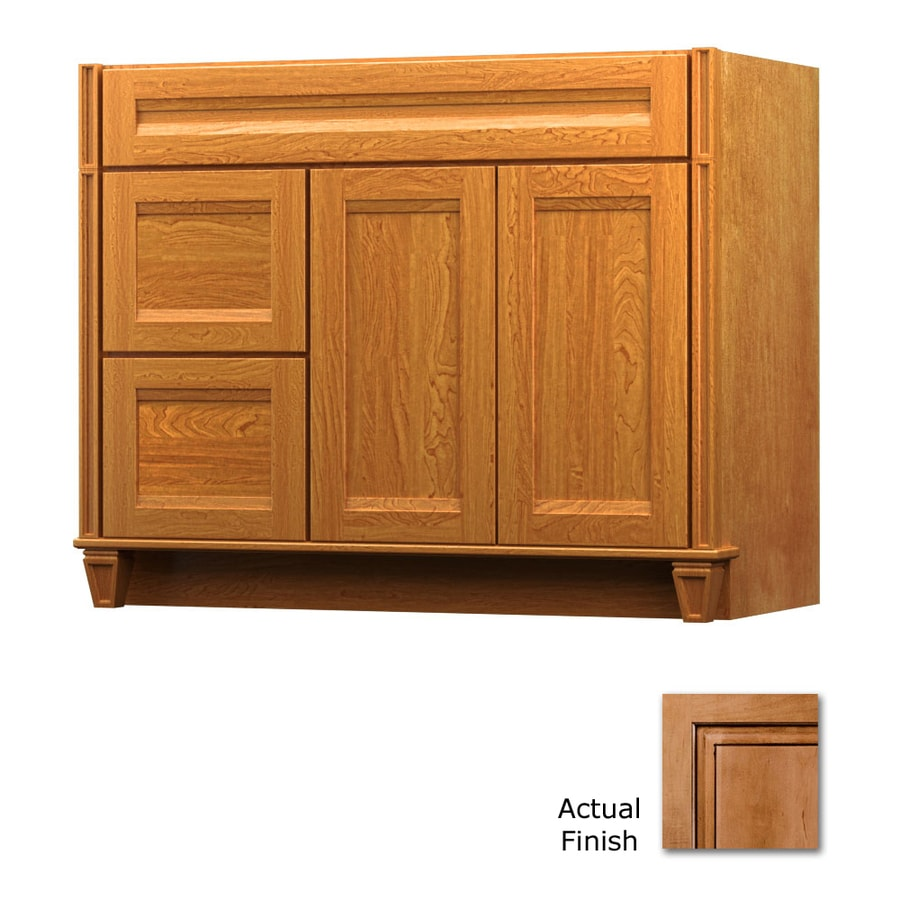 KraftMaid Key Biscayne Sonata Ginger with Sable Glaze Traditional Bathroom Vanity (Common: 42-in x 18-in; Actual: 42-in x 18-in)