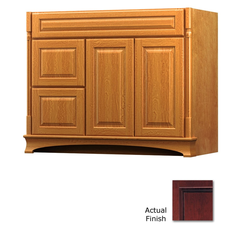 KraftMaid Chambord Montclair Cabernet Traditional Bathroom Vanity (Common: 42-in x 18-in; Actual: 42-in x 18-in)