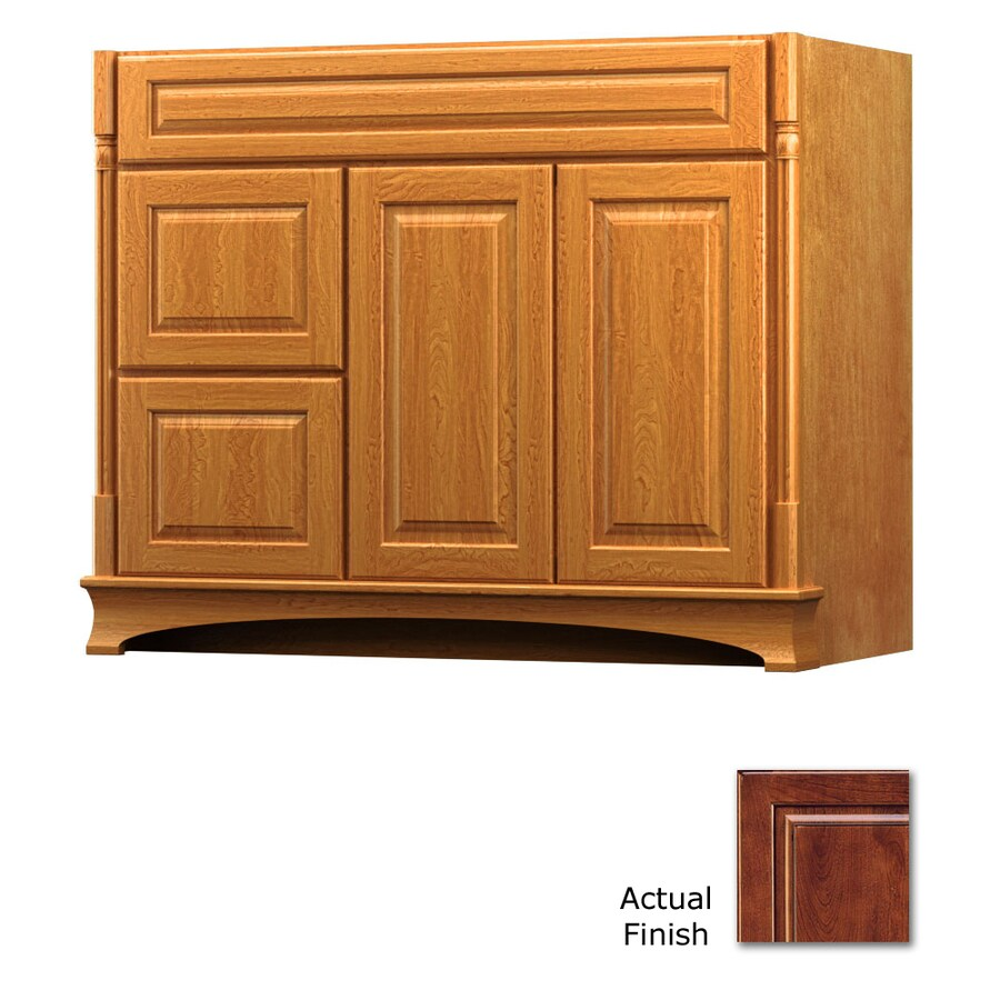 KraftMaid Chambord Montclair Antique Chocolate with Mocha Glaze Traditional Bathroom Vanity (Common: 42-in x 18-in; Actual: 42-in x 18-in)