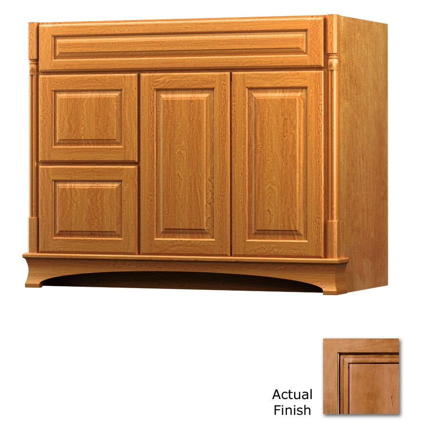 KraftMaid Chambord Montclair Ginger with Sable Glaze Traditional Bathroom Vanity (Common: 42-in x 18-in; Actual: 42-in x 18-in)