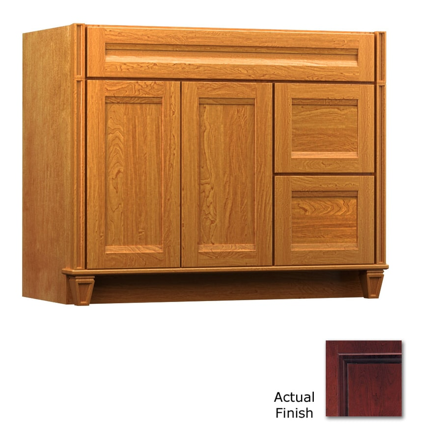 KraftMaid Key Biscayne Sonata Cabernet Traditional Bathroom Vanity (Common: 42-in x 18-in; Actual: 42-in x 18-in)