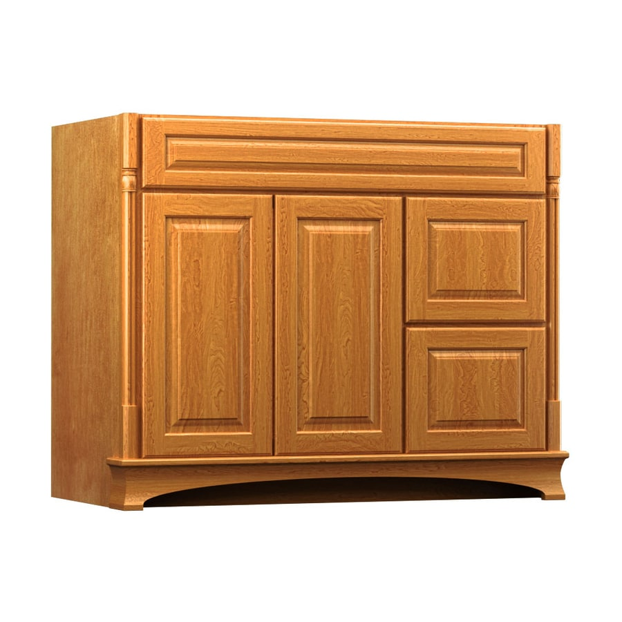 KraftMaid Chambord Montclair Praline Traditional Bathroom Vanity (Common: 42-in x 18-in; Actual: 42-in x 18-in)