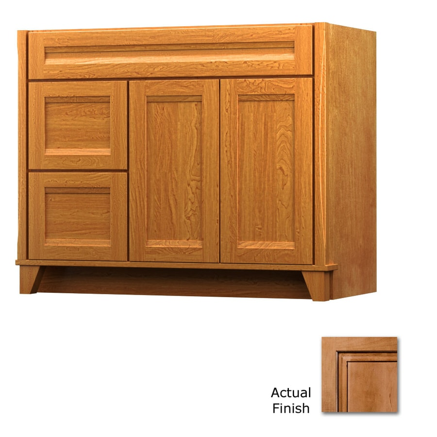 KraftMaid Tribecca Sonata Ginger with Sable Glaze Contemporary Bathroom Vanity (Common: 42-in x 21-in; Actual: 42-in x 21-in)