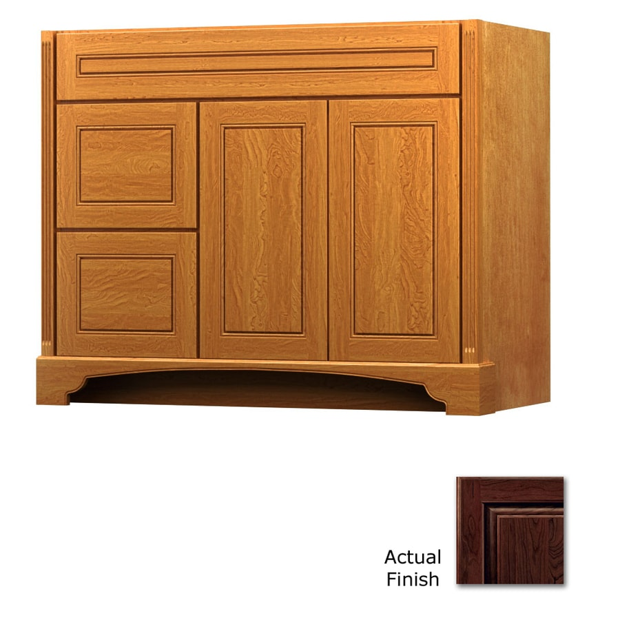 KraftMaid Savoy Provence Kaffe Traditional Bathroom Vanity (Common: 42-in x 21-in; Actual: 42-in x 21-in)
