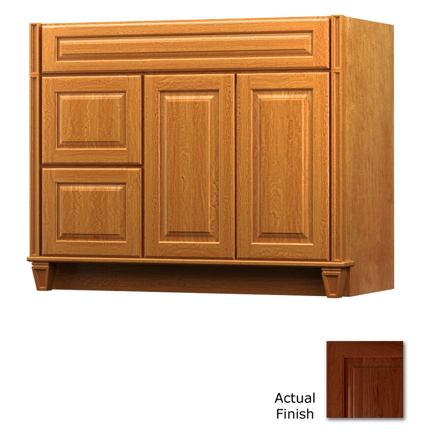 KraftMaid Key Biscayne Montclair Autumn Blush Traditional Bathroom Vanity (Common: 42-in x 21-in; Actual: 42-in x 21-in)