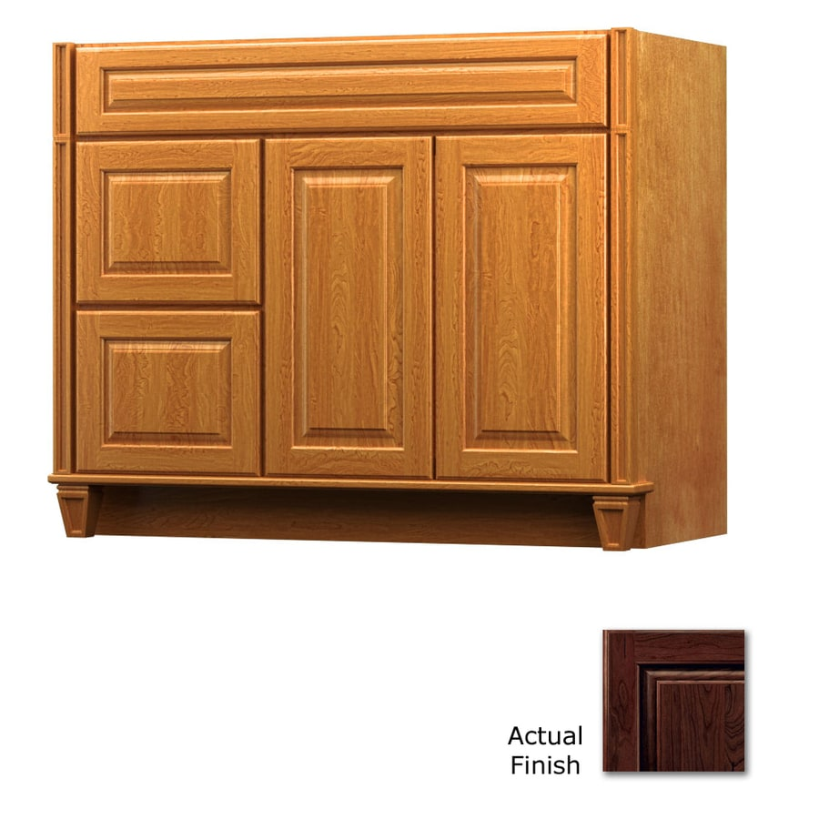 KraftMaid Key Biscayne Montclair Kaffe Traditional Bathroom Vanity (Common: 42-in x 21-in; Actual: 42-in x 21-in)