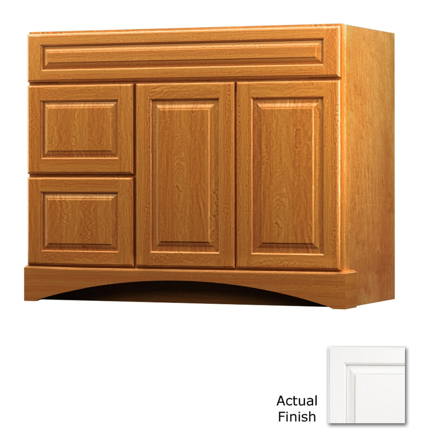 Shop kraftmaid tribecca provence canvas with cocoa glaze for Bamboo kitchen cabinets lowes