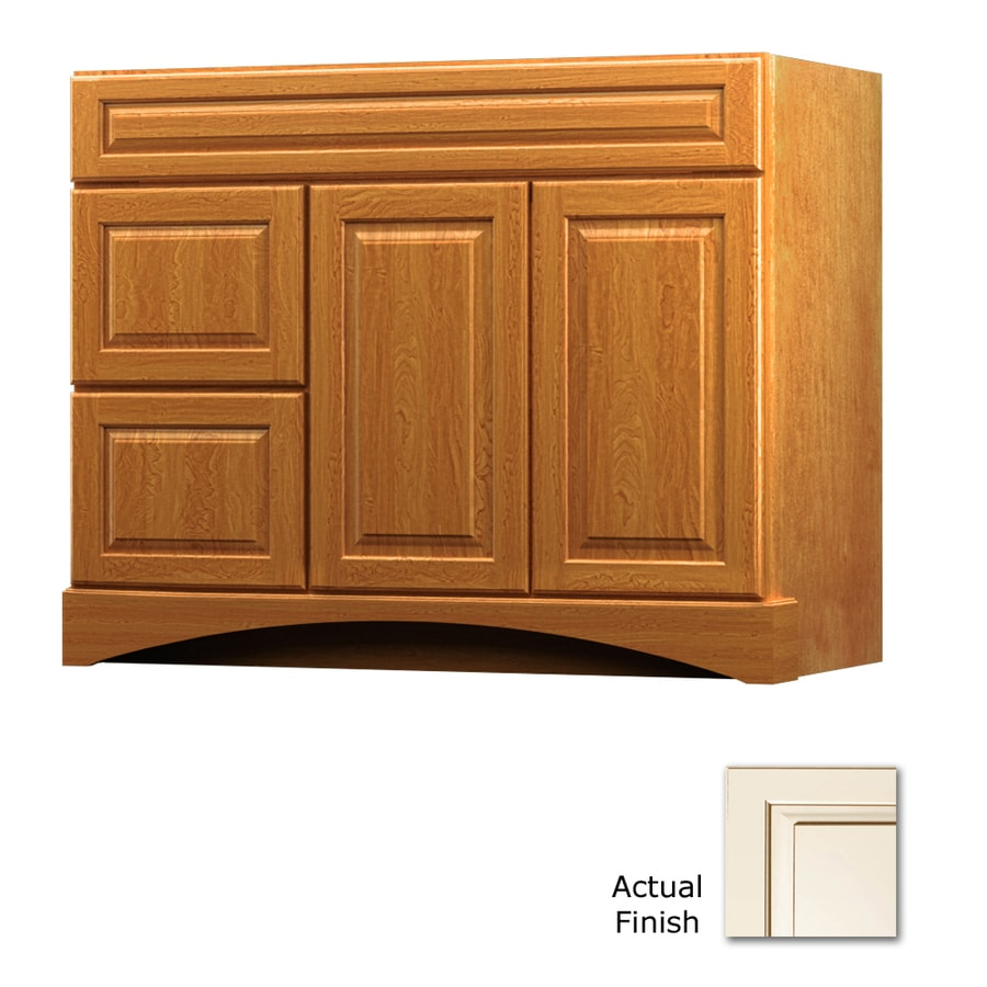 KraftMaid Summerfield Montclair Canvas with Cocoa Glaze Casual Bathroom Vanity (Common: 42-in x 21-in; Actual: 42-in x 21-in)