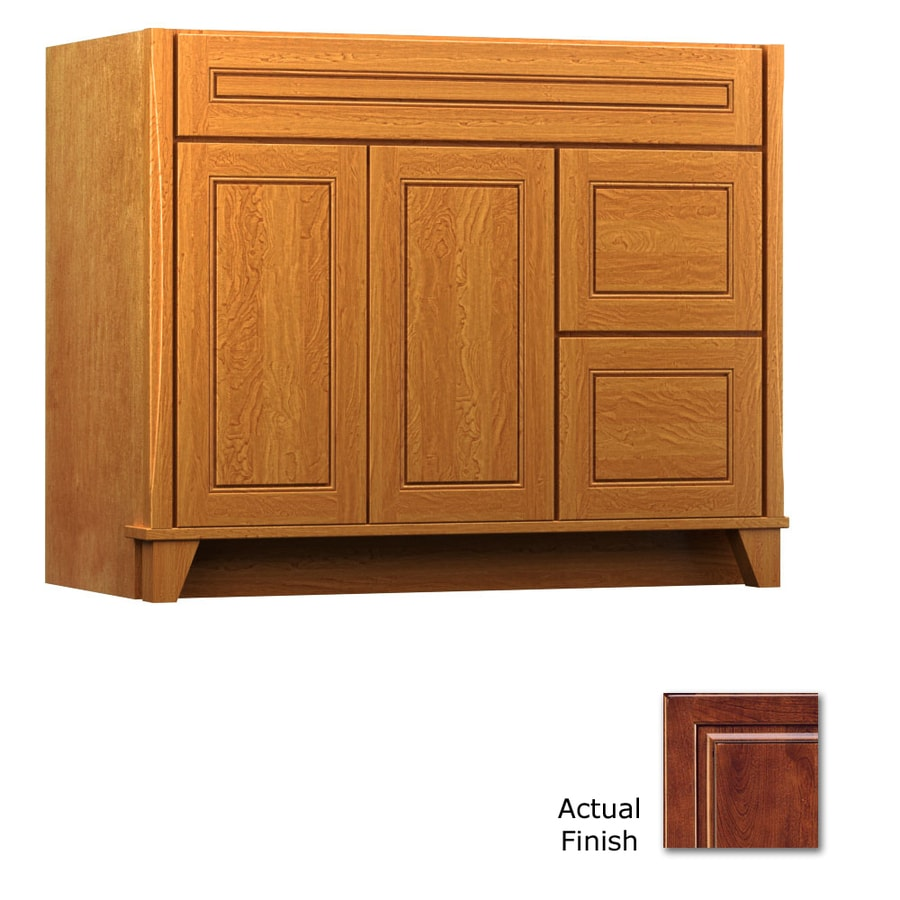 KraftMaid Tribecca Provence Antique Chocolate with Mocha Glaze Contemporary Bathroom Vanity (Common: 42-in x 21-in; Actual: 42-in x 21-in)