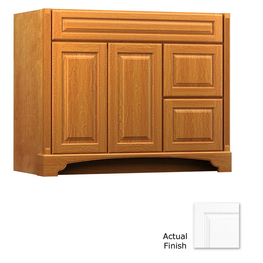 KraftMaid Savoy Montclair Dove White Traditional Bathroom Vanity (Common: 42-in x 21-in; Actual: 42-in x 21-in)