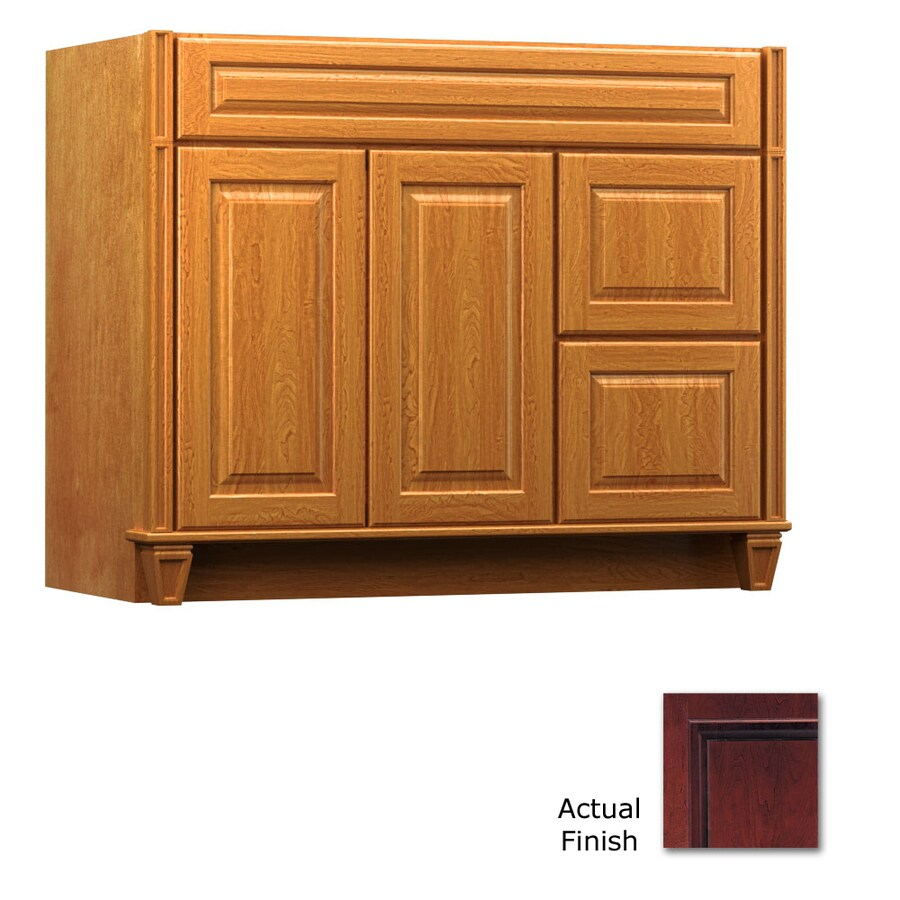 KraftMaid Key Biscayne Montclair Cabernet Traditional Bathroom Vanity (Common: 42-in x 21-in; Actual: 42-in x 21-in)