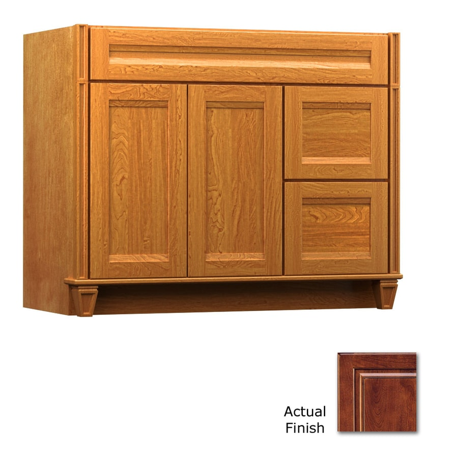 KraftMaid Key Biscayne Sonata Antique Chocolate with Mocha Glaze Traditional Bathroom Vanity (Common: 42-in x 21-in; Actual: 42-in x 21-in)