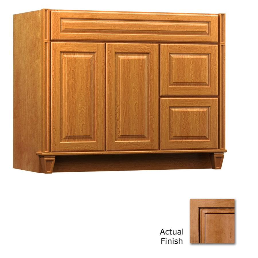 KraftMaid Key Biscayne Montclair Ginger with Sable Glaze Traditional Bathroom Vanity (Common: 42-in x 21-in; Actual: 42-in x 21-in)