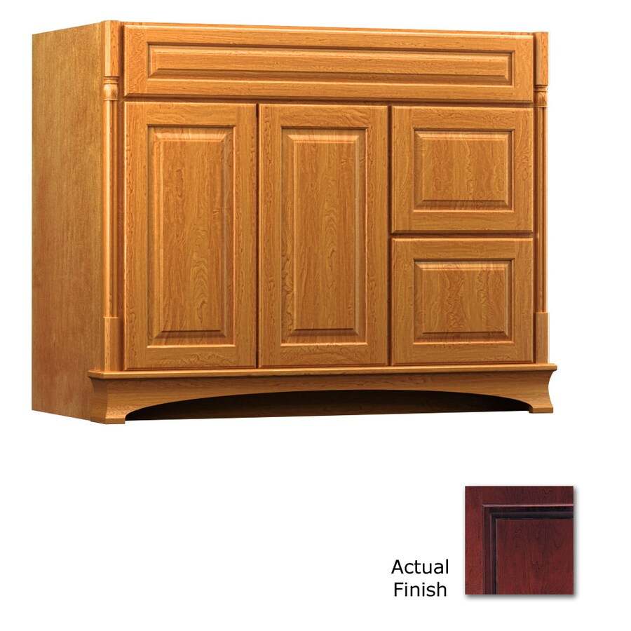 KraftMaid Chambord Montclair Cabernet Traditional Bathroom Vanity (Common: 42-in x 21-in; Actual: 42-in x 21-in)