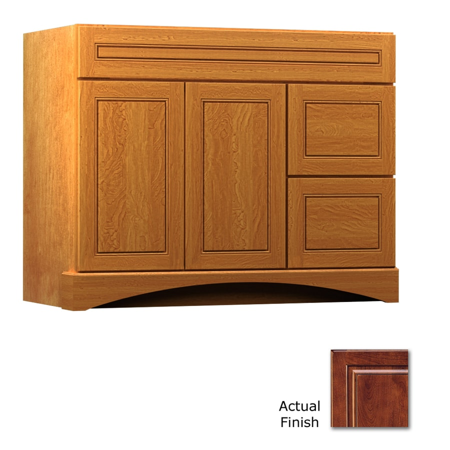 KraftMaid Summerfield Provence Antique Chocolate with Mocha Glaze Casual Bathroom Vanity (Common: 42-in x 21-in; Actual: 42-in x 21-in)