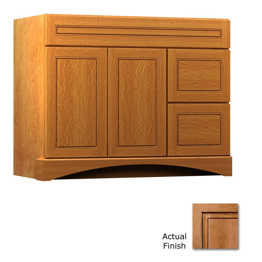 KraftMaid Summerfield Provence Ginger with Sable Glaze Casual Bathroom Vanity (Common: 42-in x 21-in; Actual: 42-in x 21-in)