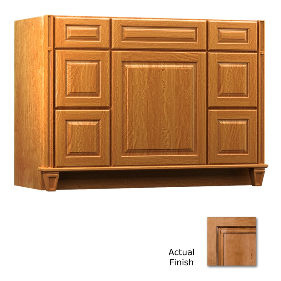KraftMaid Key Biscayne Montclair Ginger with Sable Glaze Traditional Bathroom Vanity (Common: 48-in x 18-in; Actual: 48-in x 18-in)
