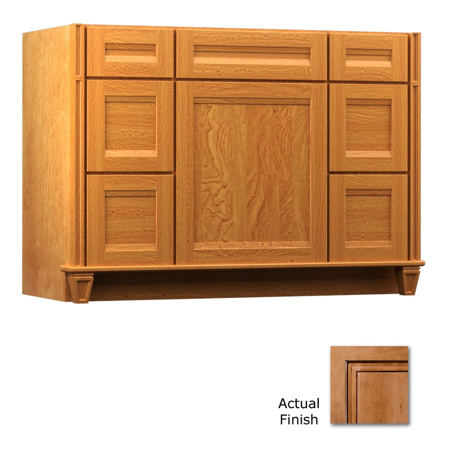 KraftMaid Key Biscayne Sonata Ginger with Sable Glaze Traditional Bathroom Vanity (Common: 48-in x 18-in; Actual: 48-in x 18-in)