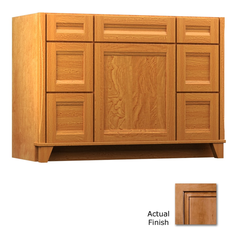 KraftMaid Tribecca Sonata Ginger with Sable Glaze Contemporary Bathroom Vanity (Common: 48-in x 21-in; Actual: 48-in x 21-in)