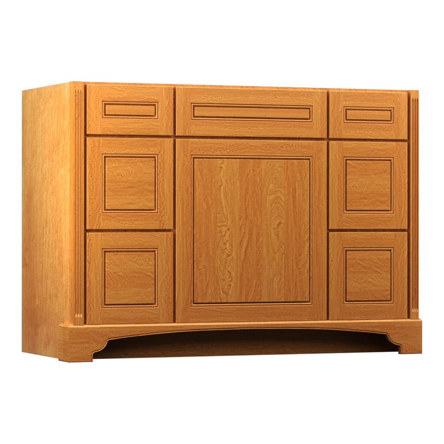 KraftMaid Savoy Provence Praline Traditional Bathroom Vanity (Common: 48-in x 21-in; Actual: 48-in x 21-in)