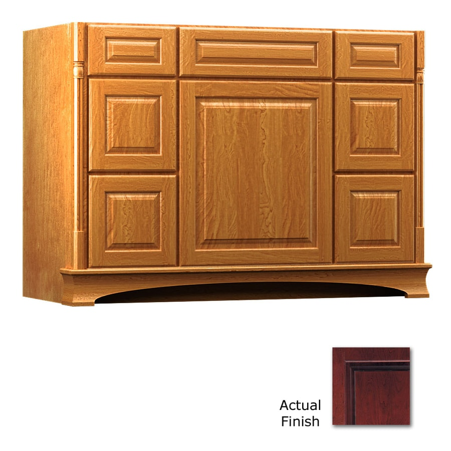 KraftMaid Chambord Montclair Cabernet Traditional Bathroom Vanity (Common: 48-in x 21-in; Actual: 48-in x 21-in)