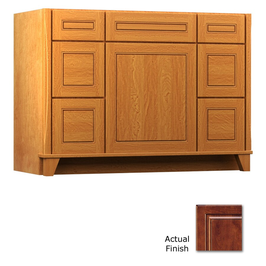 KraftMaid Tribecca Provence Antique Chocolate with Mocha Glaze Contemporary Bathroom Vanity (Common: 48-in x 21-in; Actual: 48-in x 21-in)