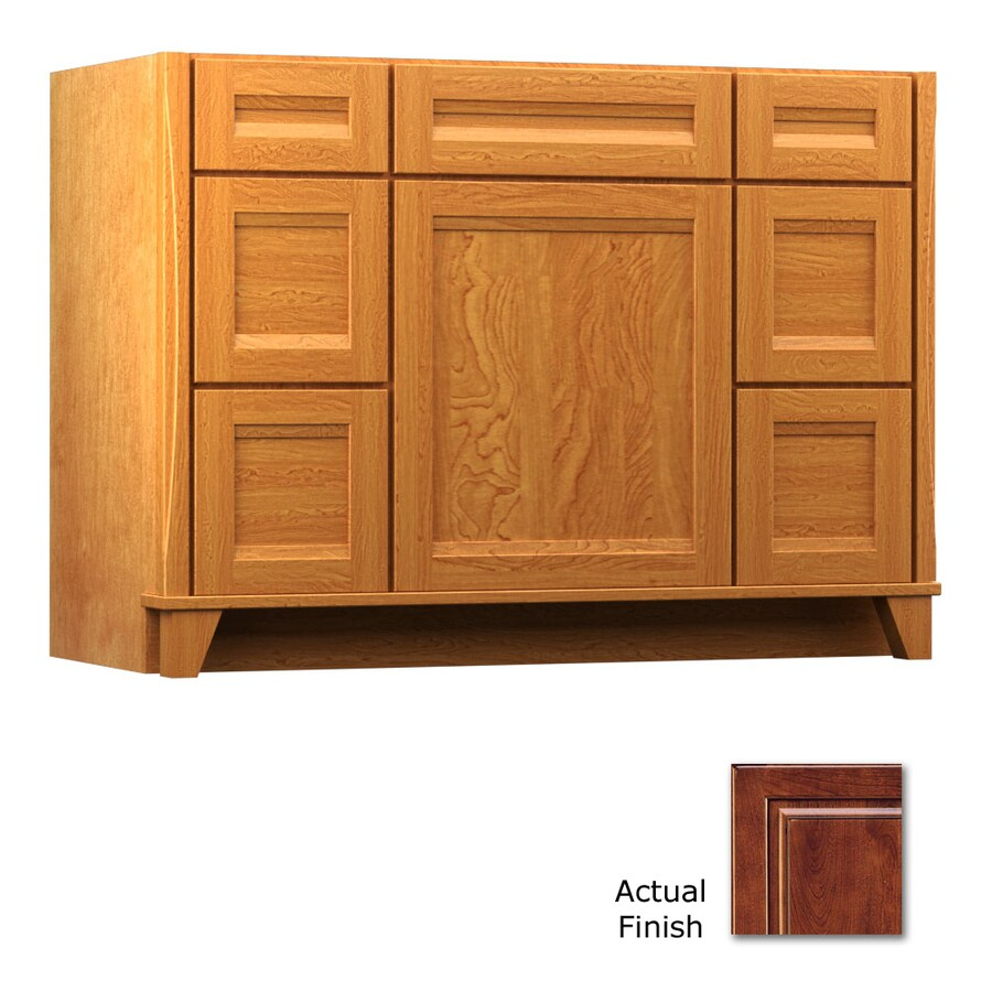 KraftMaid Tribecca Sonata Antique Chocolate with Mocha Glaze Contemporary Bathroom Vanity (Common: 48-in x 21-in; Actual: 48-in x 21-in)