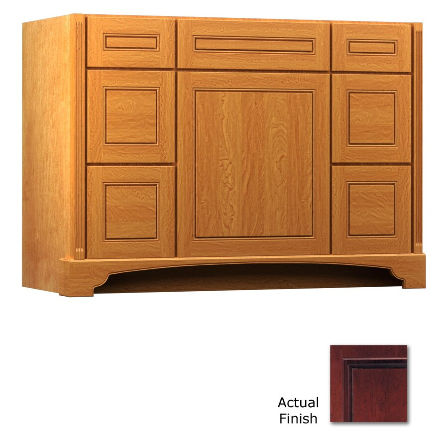 KraftMaid Savoy Provence Cabernet Traditional Bathroom Vanity (Common: 48-in x 21-in; Actual: 48-in x 21-in)