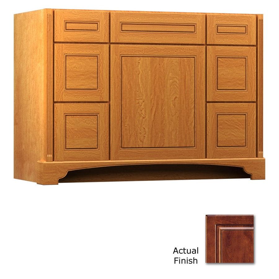 KraftMaid Savoy Provence Antique Chocolate with Mocha Glaze Traditional Bathroom Vanity (Common: 48-in x 21-in; Actual: 48-in x 21-in)