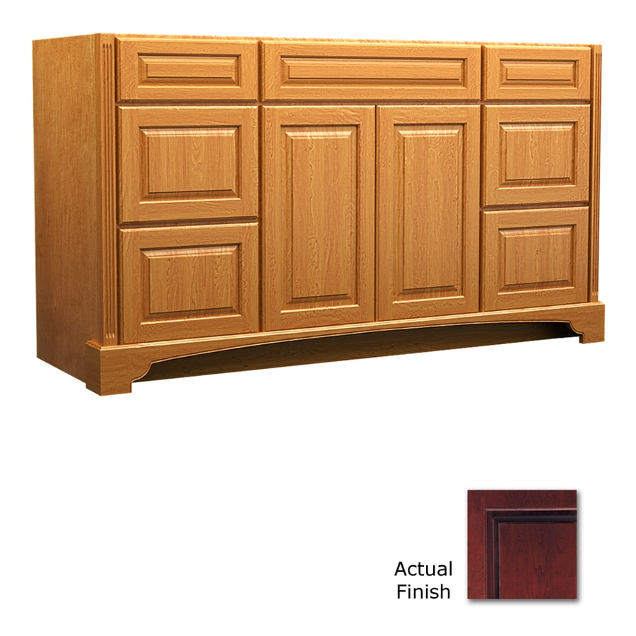 KraftMaid Savoy Montclair Cabernet Traditional Bathroom Vanity (Common: 60-in x 21-in; Actual: 60-in x 21-in)