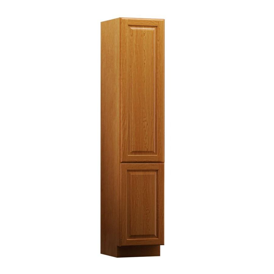 KraftMaid 15-in W x 88.5-in H x 21-in D Praline Maple Freestanding Linen Cabinet